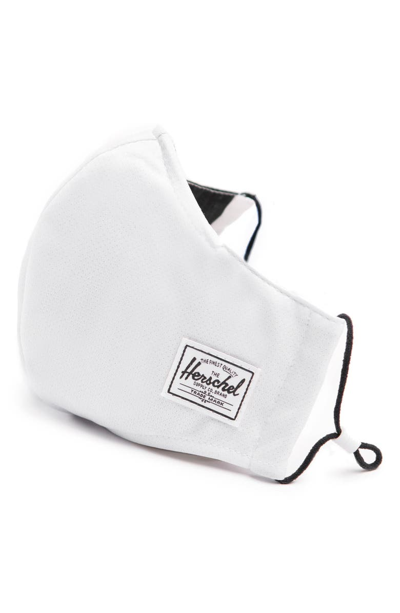 HERSCHEL SUPPLY CO. Fitted Face Mask, Main, color, White