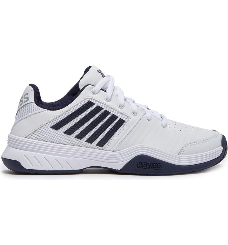 K-SWISS Court Express Sneaker, Main, color, WHITE/NAVY