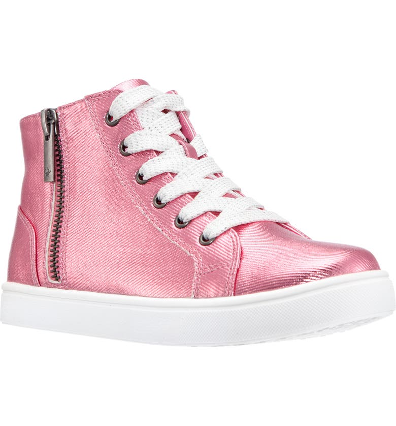 NINA Roena High Top Sneaker, Main, color, PINK COATED CANVAS
