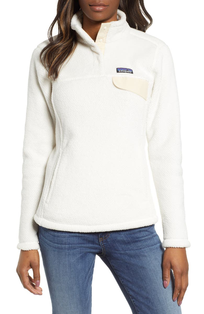 PATAGONIA Re-Tool Snap-T<sup>®</sup> Fleece Pullover, Main, color, RAW LINEN - WHITE X-DYE