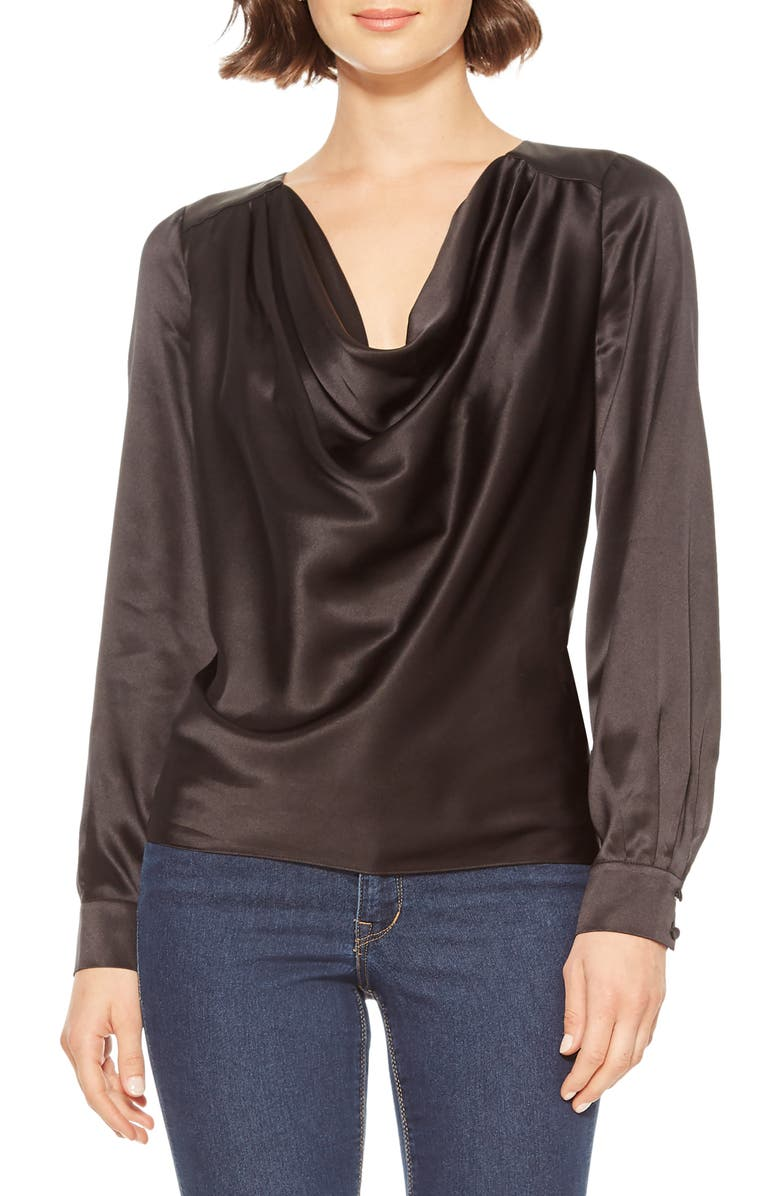 PARKER Galway Silk Blouse, Main, color, 001