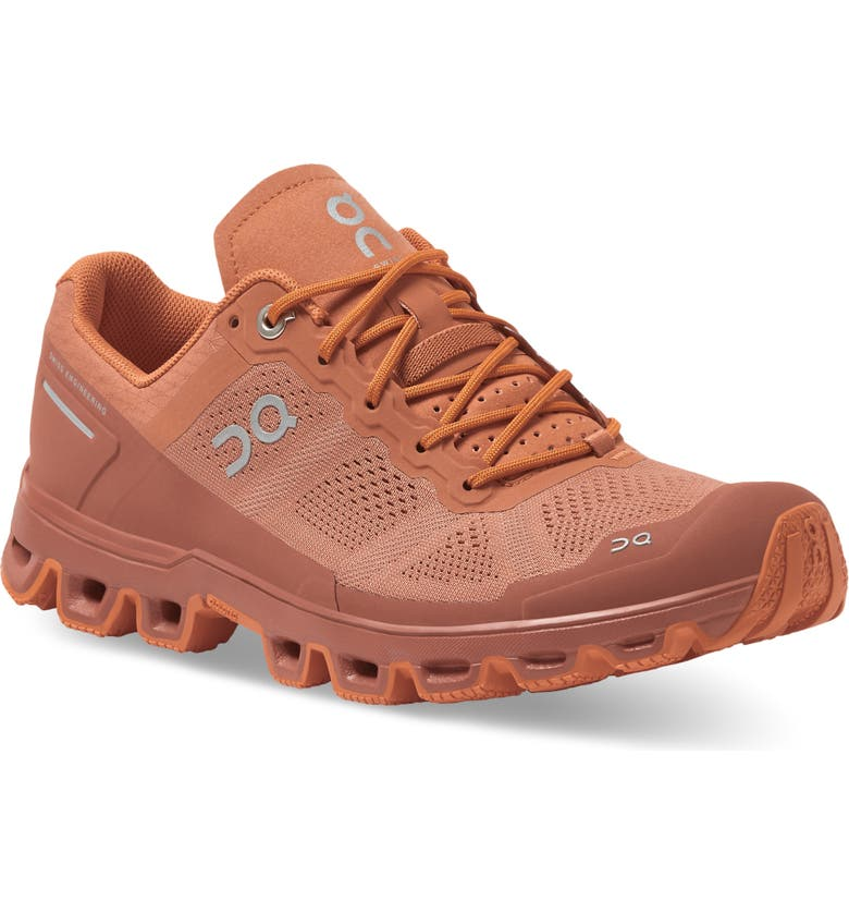 ON Cloudventure Water Repellent Trail Running Shoe, Main, color, SANDSTONE/ ORANGE