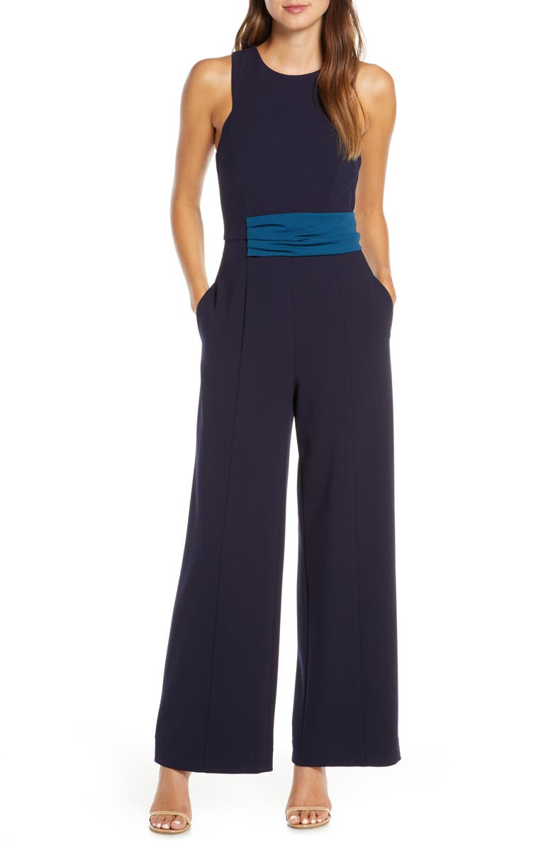 MARK + JAMES BY BADGLEY MISCHKA Colorblock Waist Jumpsuit, Main, color, 400