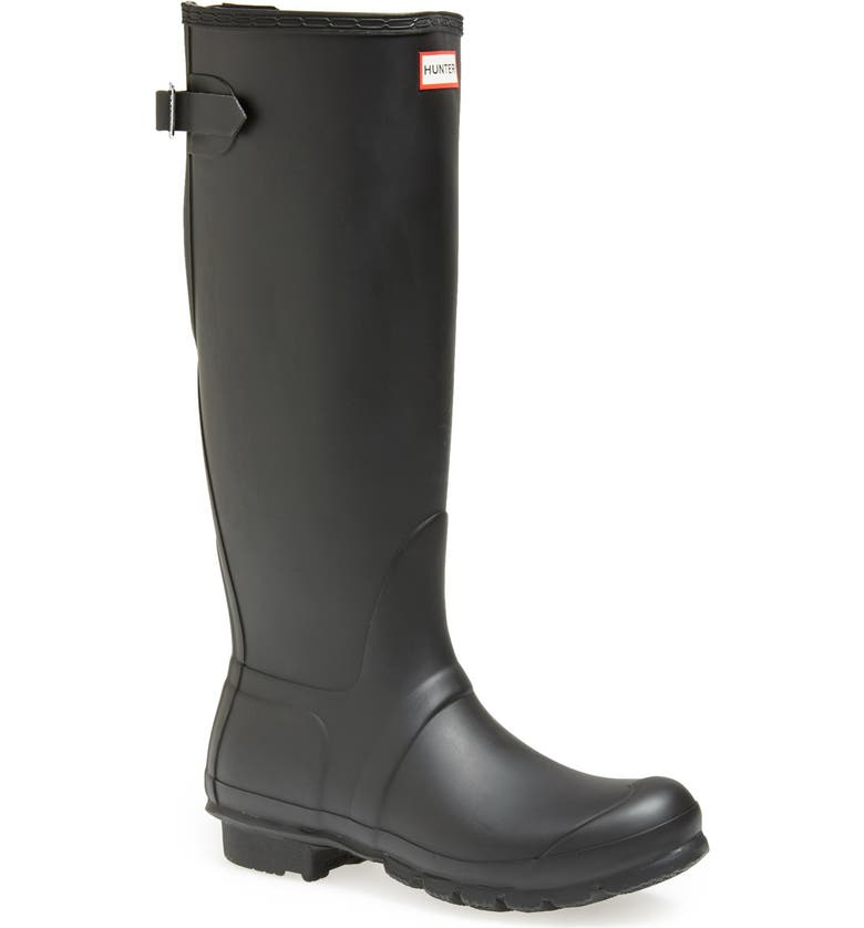 HUNTER Original Tall Adjustable Back Waterproof Rain Boot, Main, color, 002