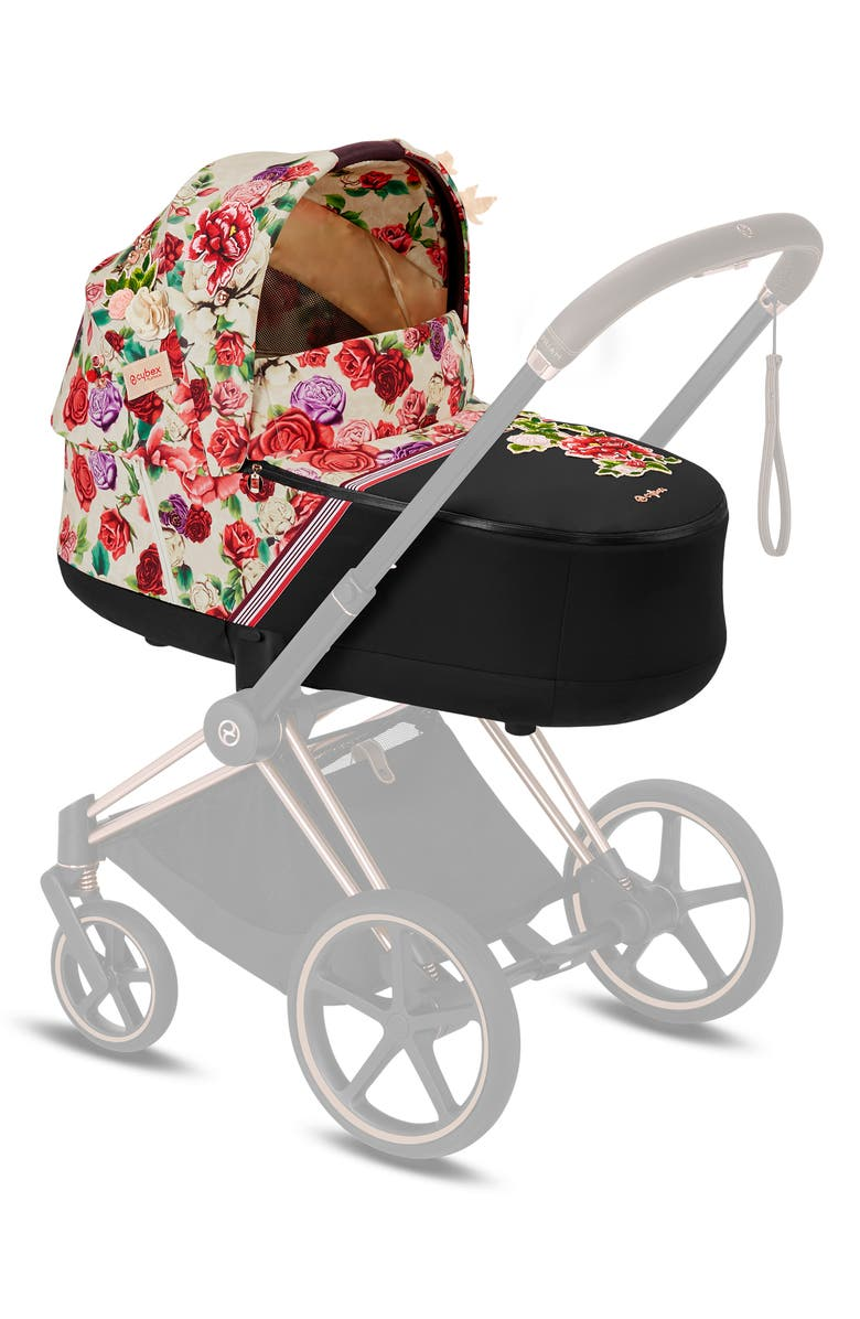 CYBEX Mios Lux Light Spring Blossom Carrycot, Main, color, LIGHT BEIGE