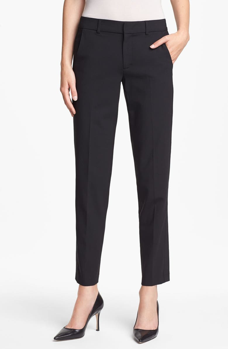 VINCE 'Strapping' Stretch Wool Trousers, Main, color, 001
