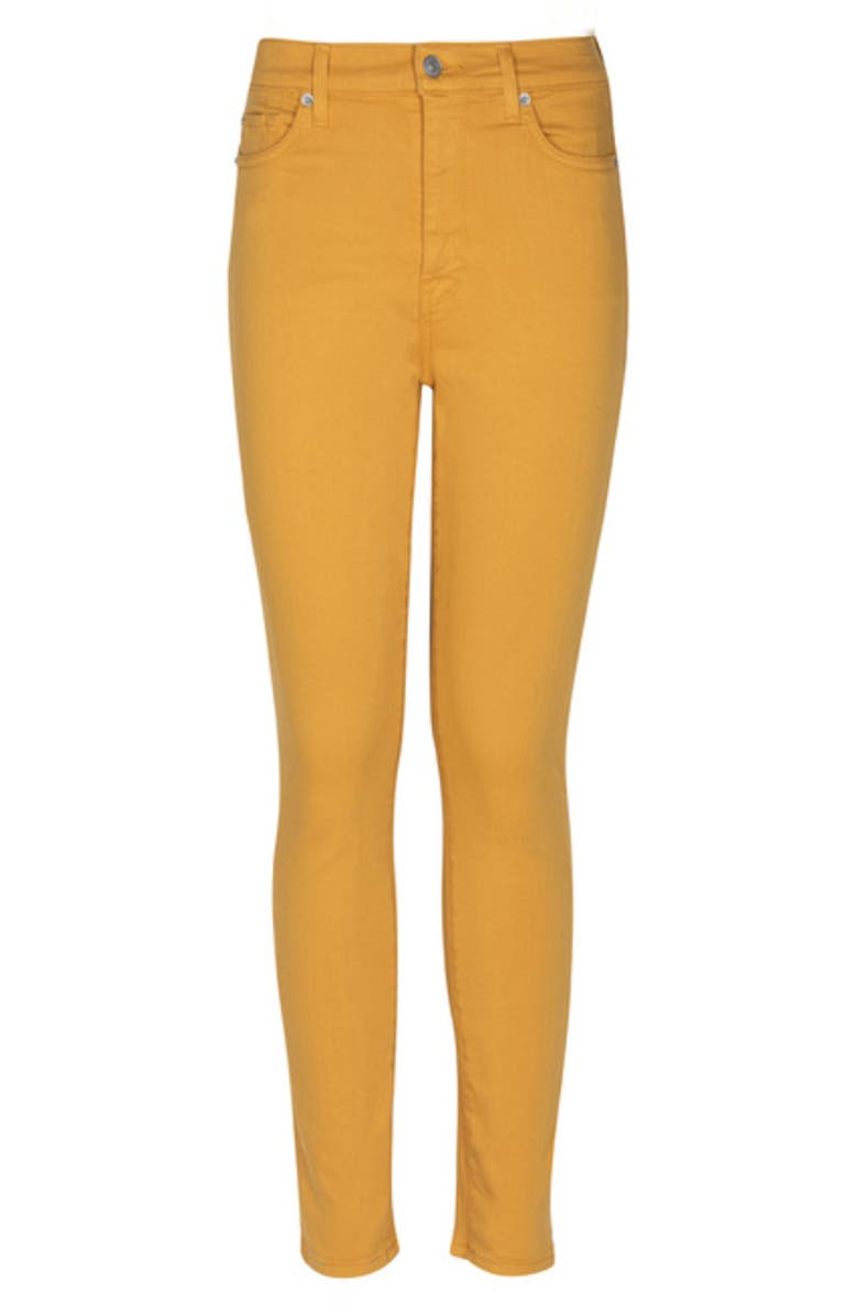 7 FOR ALL MANKIND<SUP>®</SUP> High Waist Ankle Skinny Jeans, Main, color, GOLD