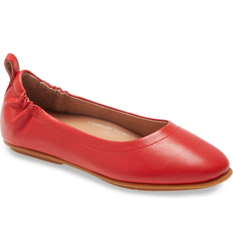 FITFLOP Allegro Ballet Flat, Main, color, RED LEATHER