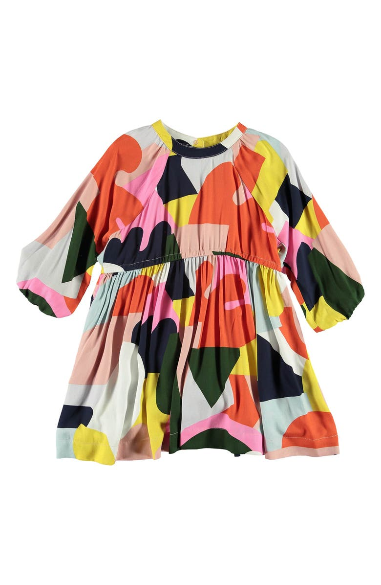 STELLA MCCARTNEY KIDS Colorblock Long Sleeve Dress, Main, color, 660
