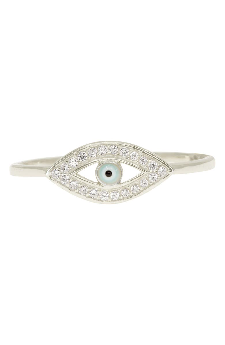 RAGEN JEWELS Evil Eye Pavé Ring, Main, color, 040