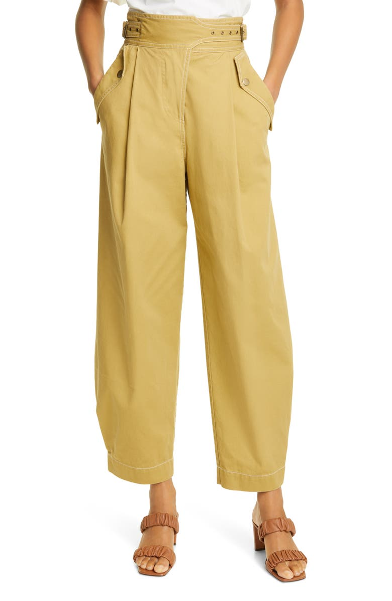 ULLA JOHNSON Dune Trousers, Main, color, FENNEL SEED