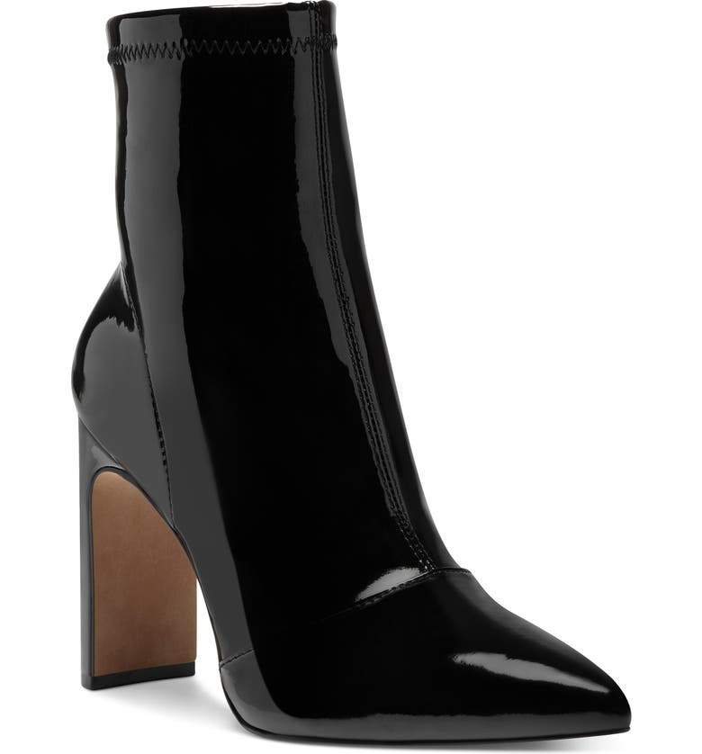 JESSICA SIMPSON Briyanne Pointy Toe Bootie, Main, color, BLACK PATENT