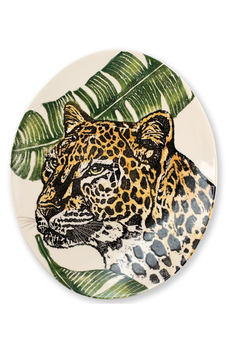 VIETRI Into the Jungle Cheetah Oval Platter, Main, color, HANDPAINTED