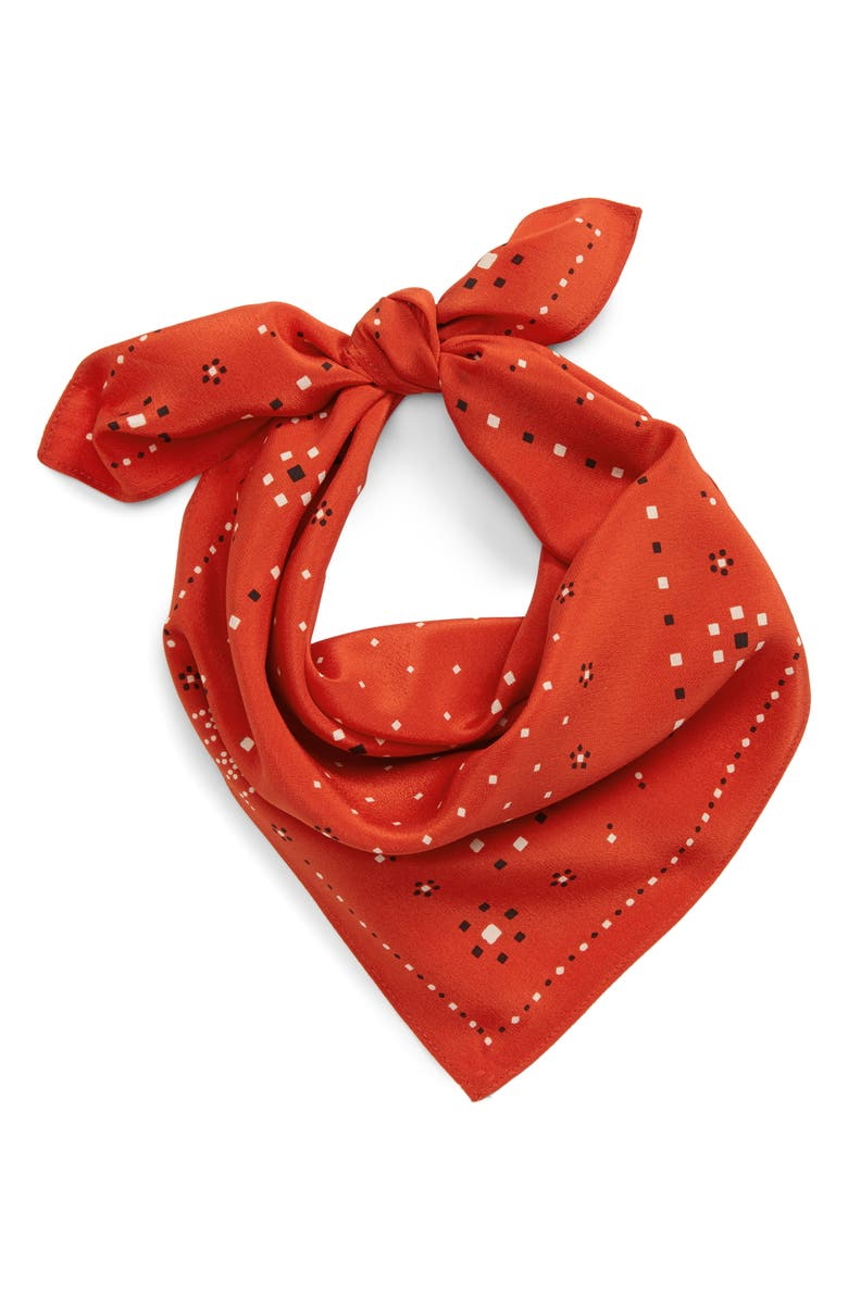 MADEWELL Silk Bandana, Main, color, HIMALAYAN ORANGE