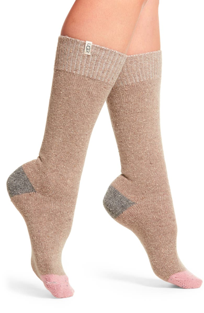 UGG<SUP>®</SUP> Colorblock Wool Blend Socks, Main, color, 020