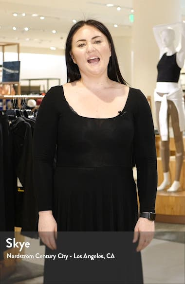 Long Sleeve Sequin Knit Gown, sales video thumbnail