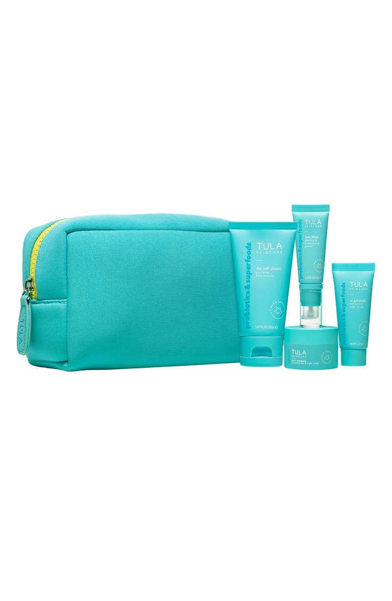 TULA SKINCARE On the Go Bestsellers Set, Main, color, No Color