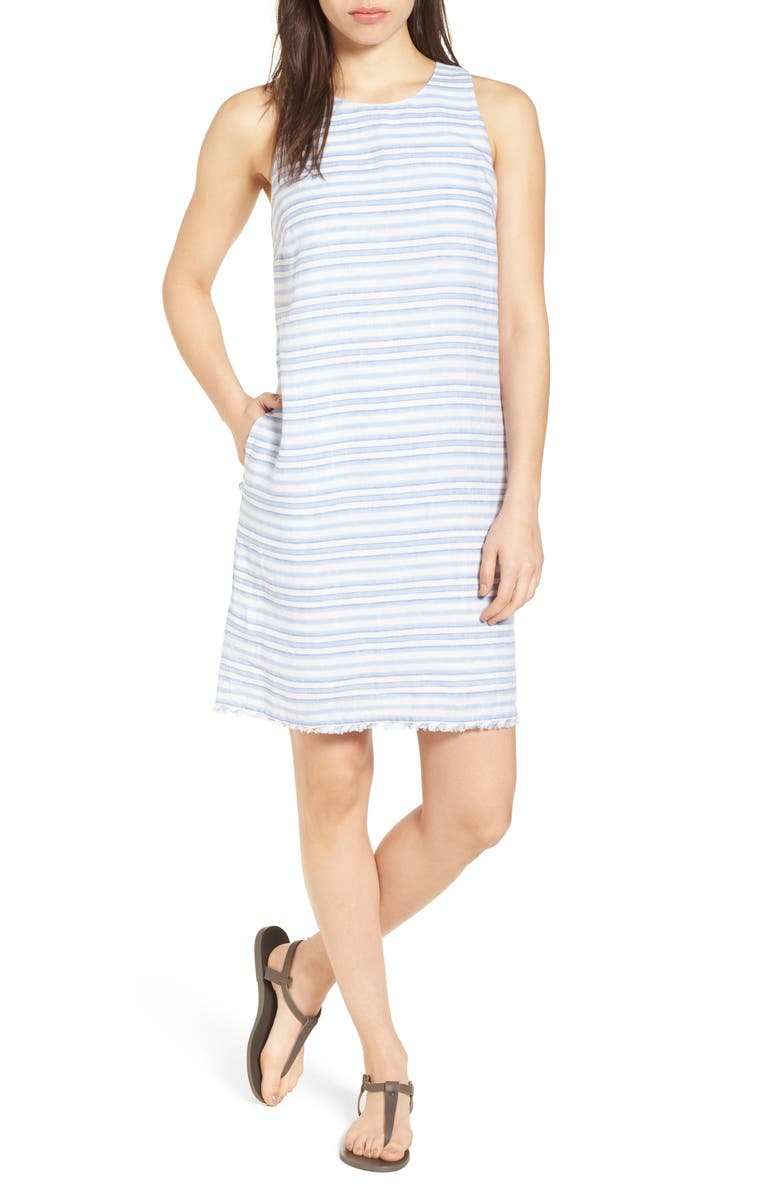 TOMMY BAHAMA Bella Hermosa Linen Shift Dress, Main, color, 400