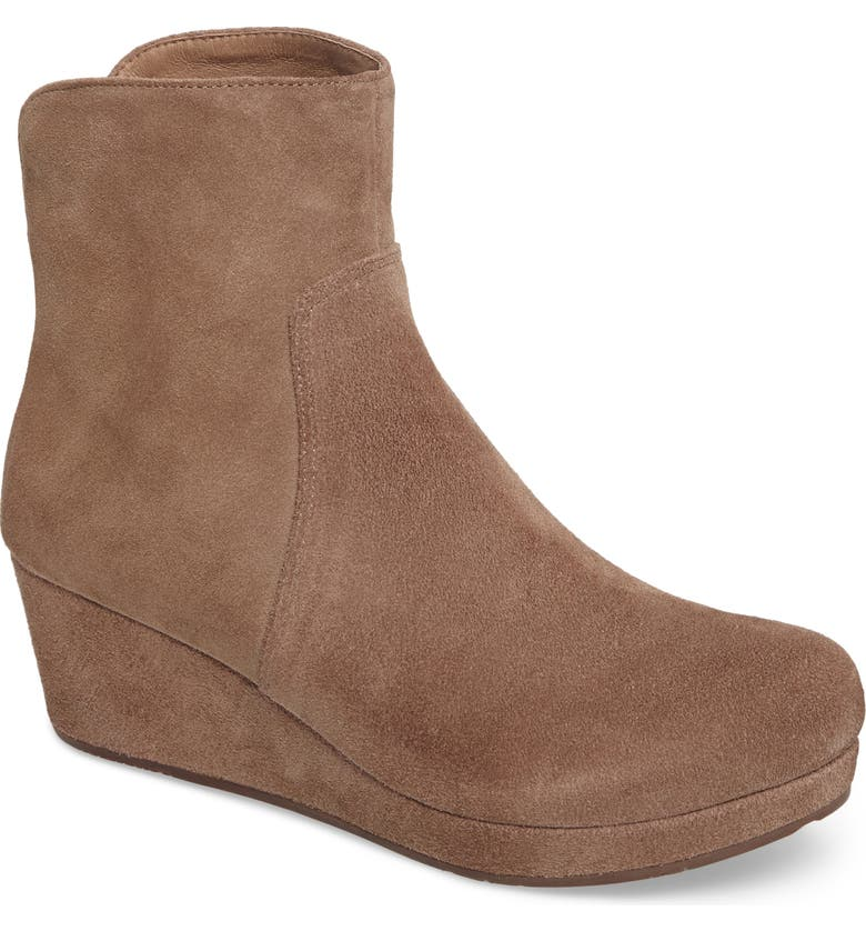 CHOCOLAT BLU Yarden Wedge Bootie, Main, color, TAUPE SUEDE