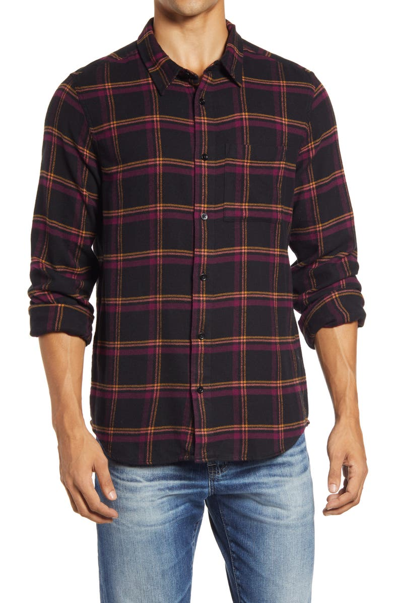 MADEWELL Double Brushed Perfect Flannel Shirt, Main, color, 533
