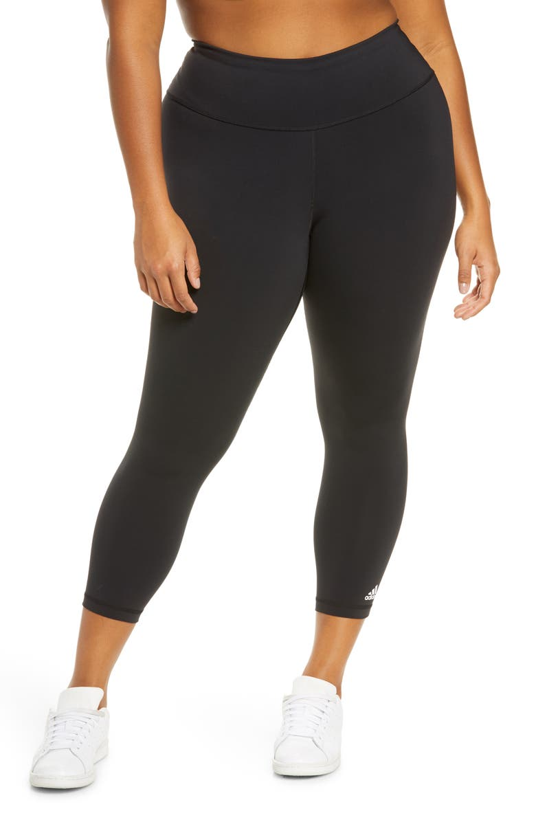 ADIDAS Believe This Solid 7/8 Tights, Main, color, BLACK