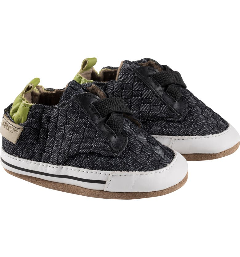 ROBEEZ<SUP>®</SUP> Cool Casual Woven Crib Sneaker, Main, color, 410