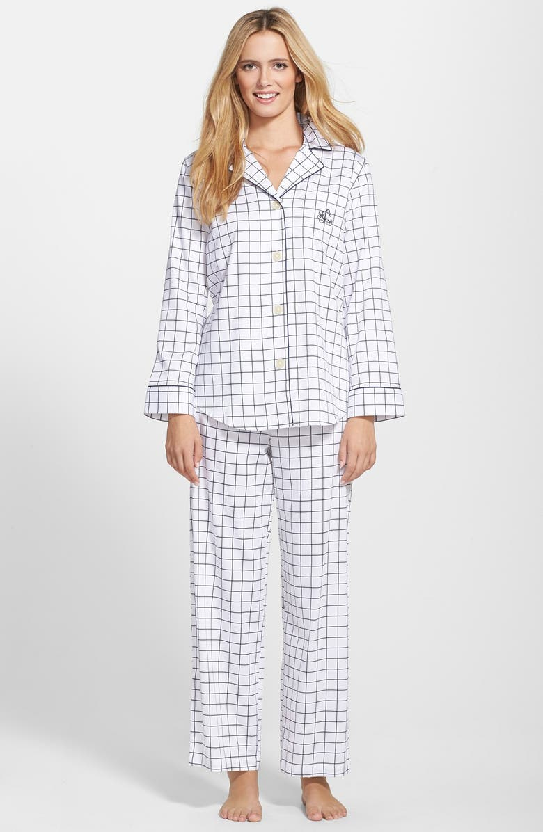 LAUREN RALPH LAUREN Sateen Pajamas, Main, color, 102
