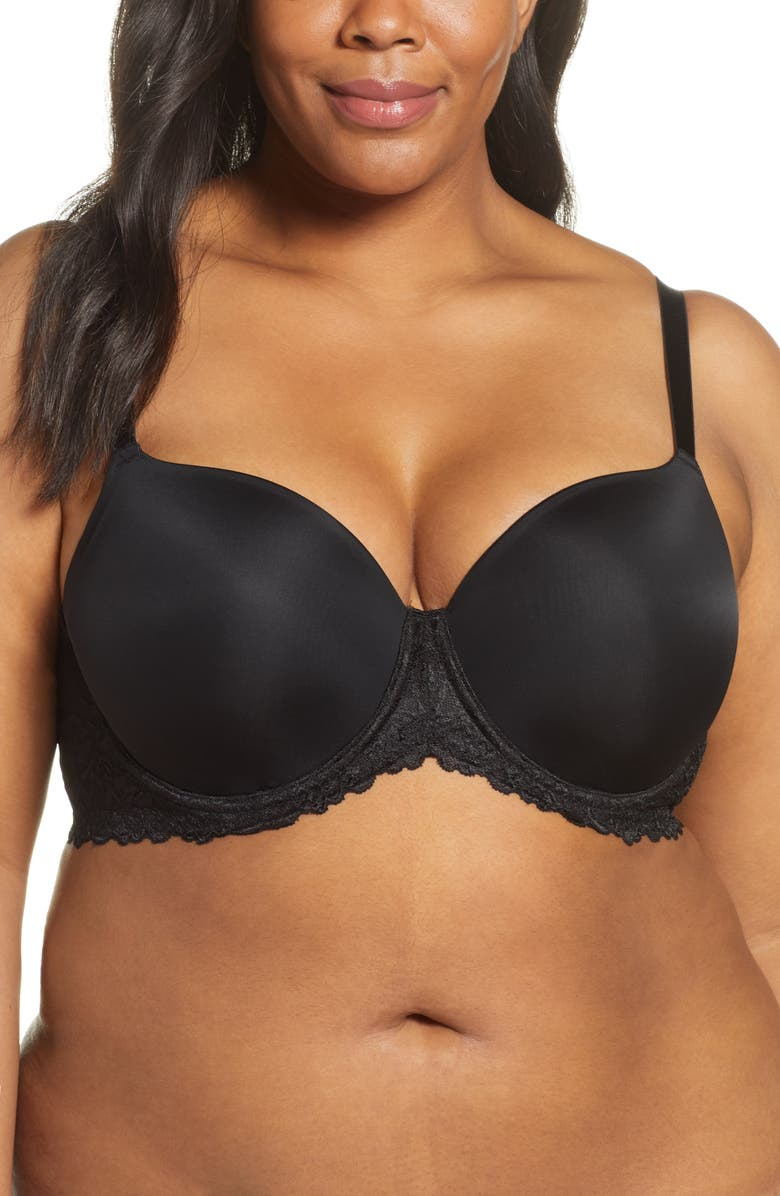 NATORI Renew Full Fit Contour Underwire Bra, Main, color, BLACK