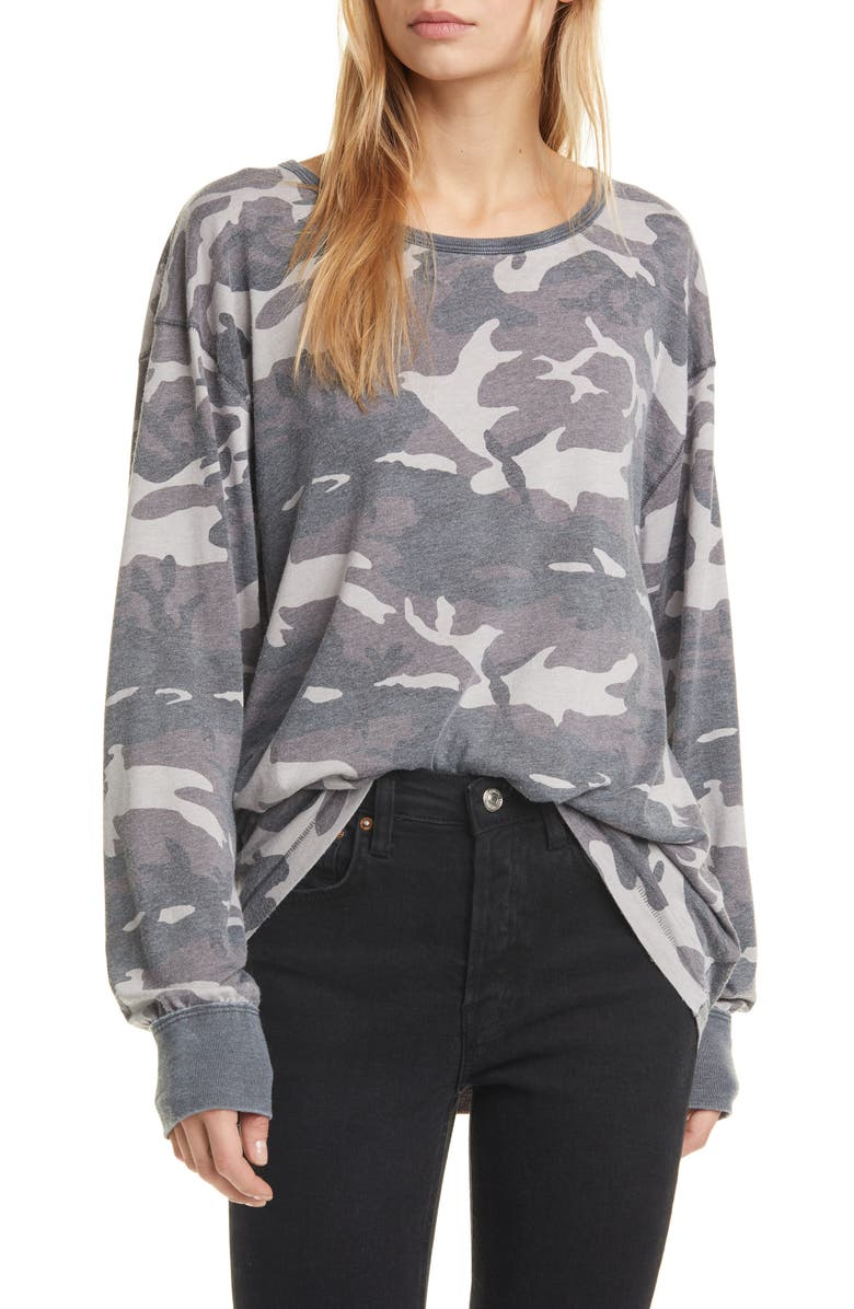 FREE PEOPLE Arielle Print Long Sleeve Tee, Main, color, 019