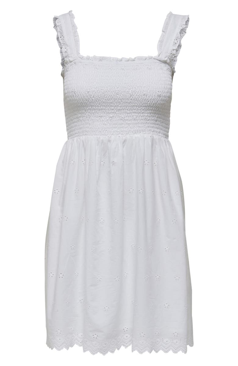 ONLY Trima Life Embroidered Sundress, Main, color, WHITE