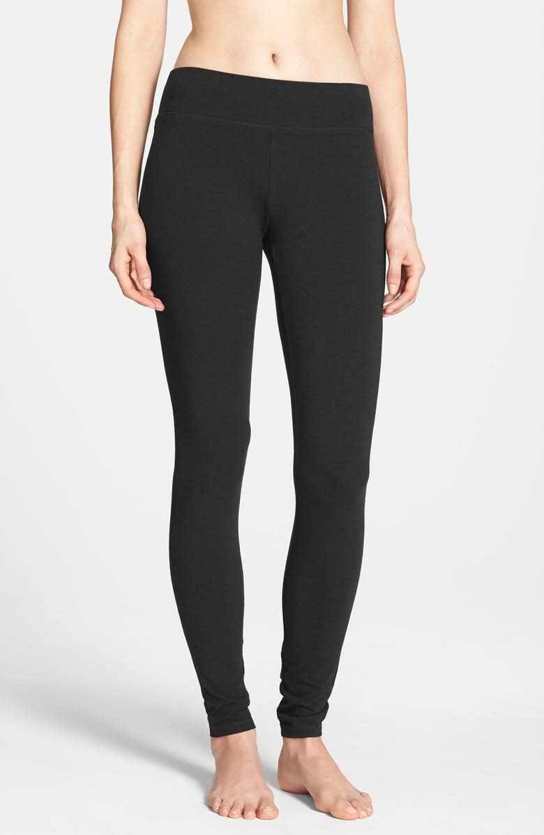 HUE Ultra Wide Waistband Leggings, Main, color, Black