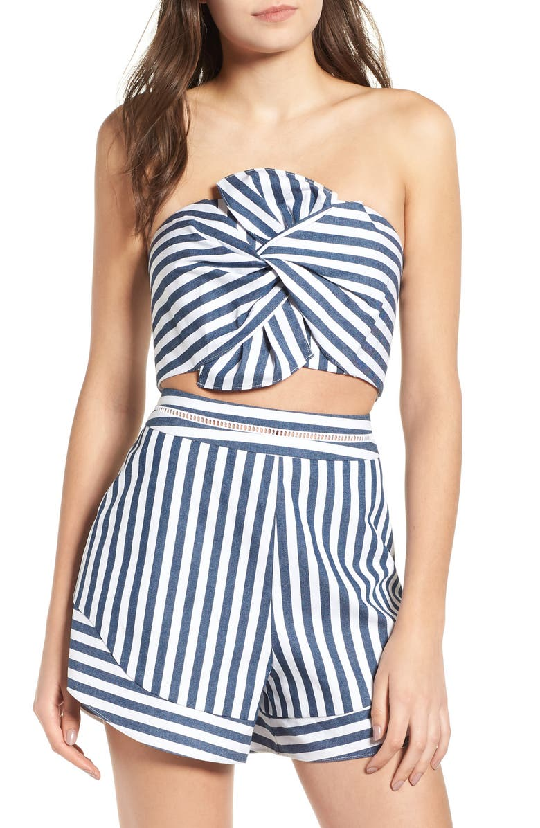 WAYF Durham Knotted Bow Tube Top, Main, color, 039