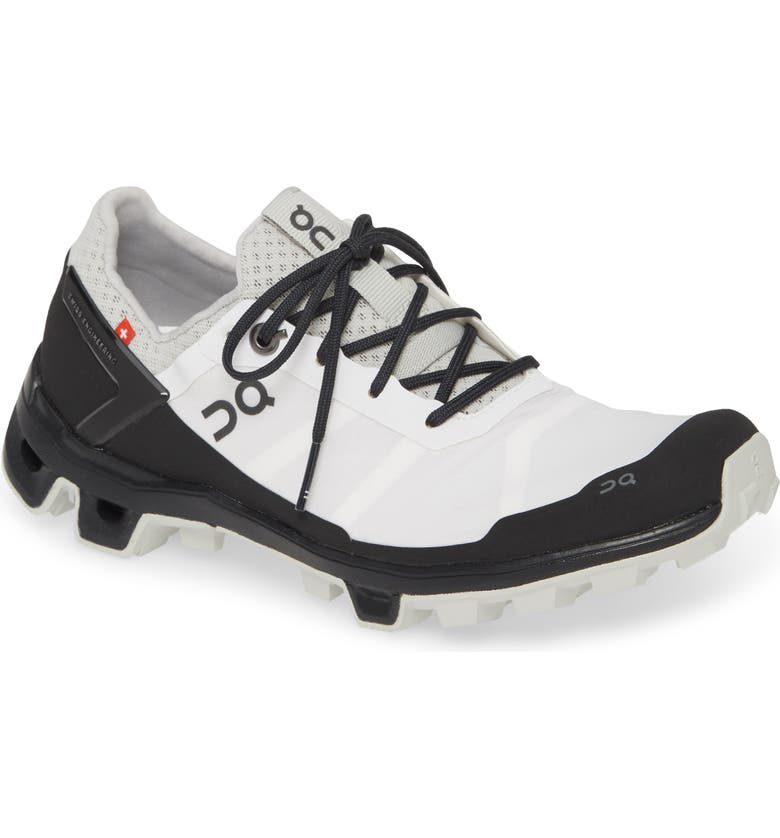 ON Running Cloudventure Peak Water Repellent Trail Running Shoe, Main, color, WHITE/ BLACK