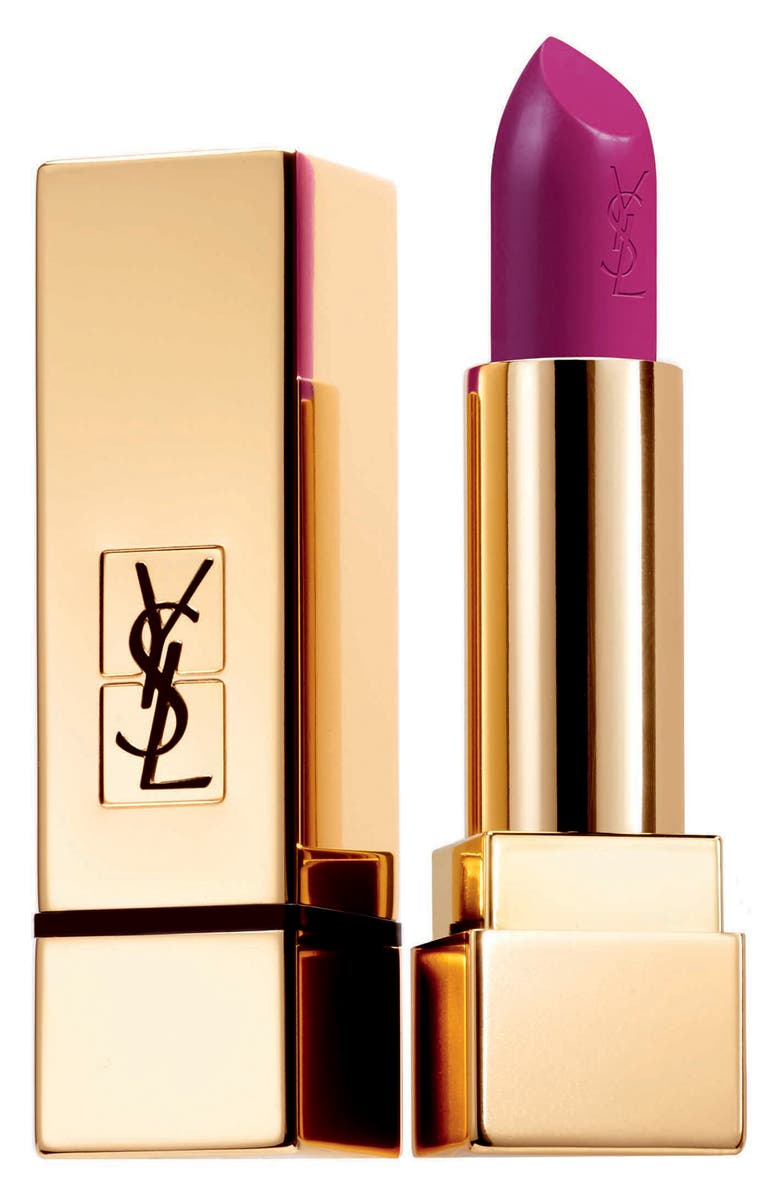 YVES SAINT LAURENT Rouge Pur Couture Satin Lipstick, Main, color, 19 FUCHSIA PINK