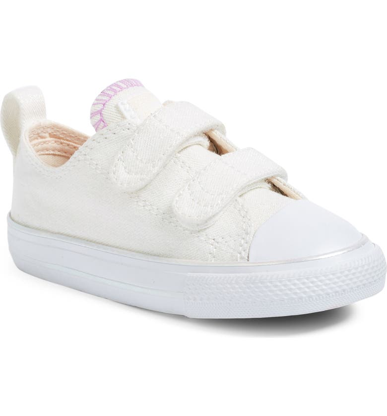 CONVERSE Chuck Taylor<sup>®</sup> All Star<sup>®</sup> Sparkling Sneaker, Main, color, WHITE/ BARELY ORANGE
