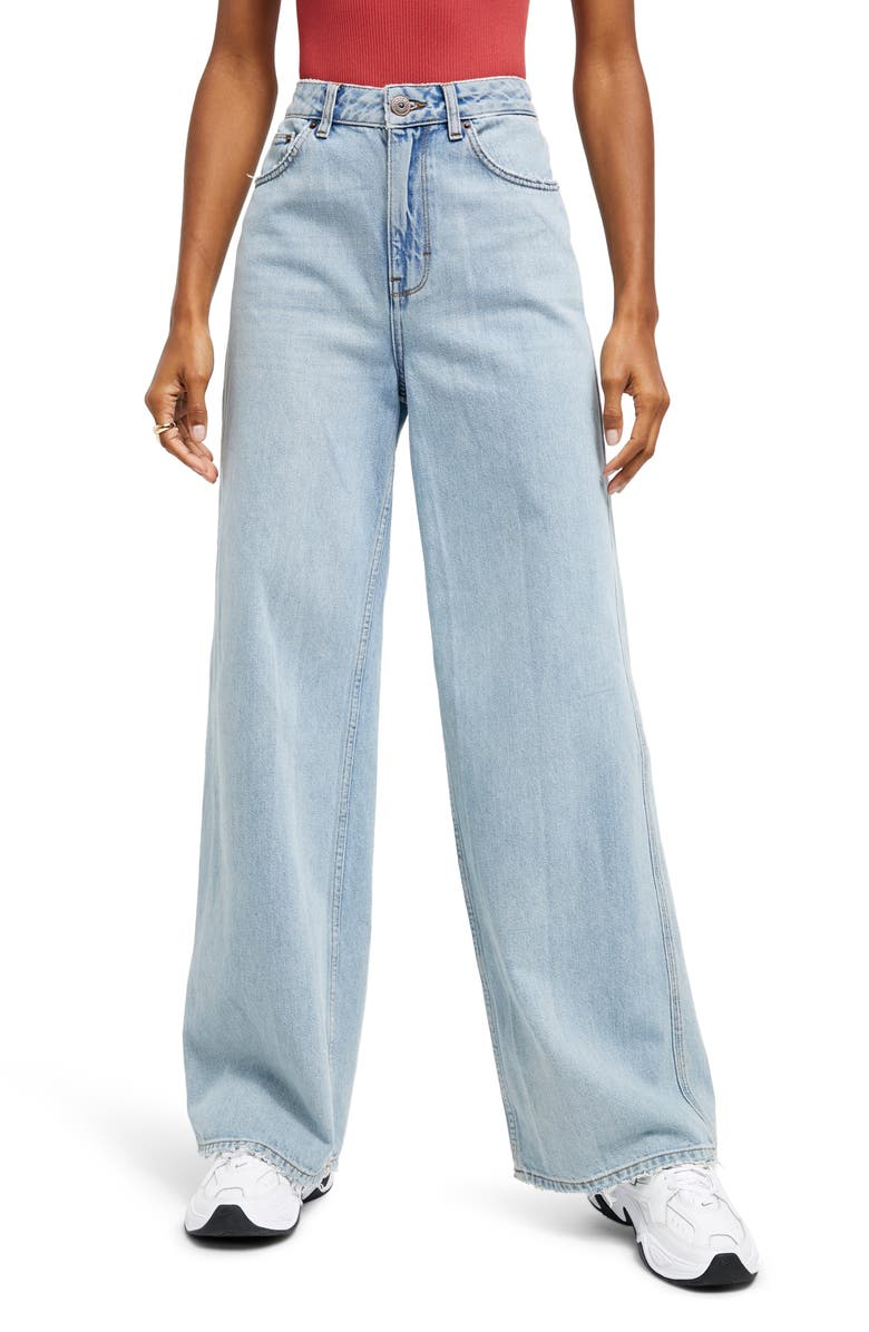 BDG URBAN OUTFITTERS Puddle Jeans, Main, color, LIGHT VINTAGE