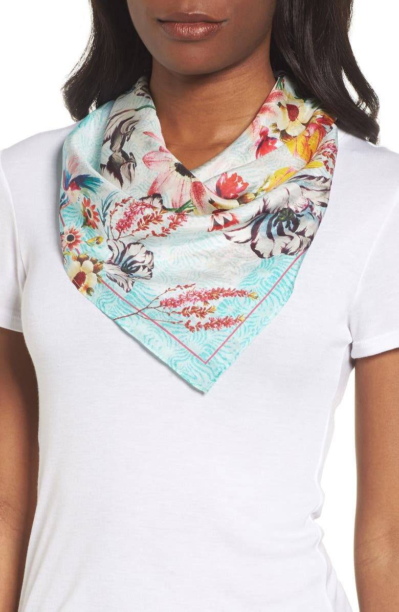NORDSTROM Print Silk Scarf, Main, color, 440