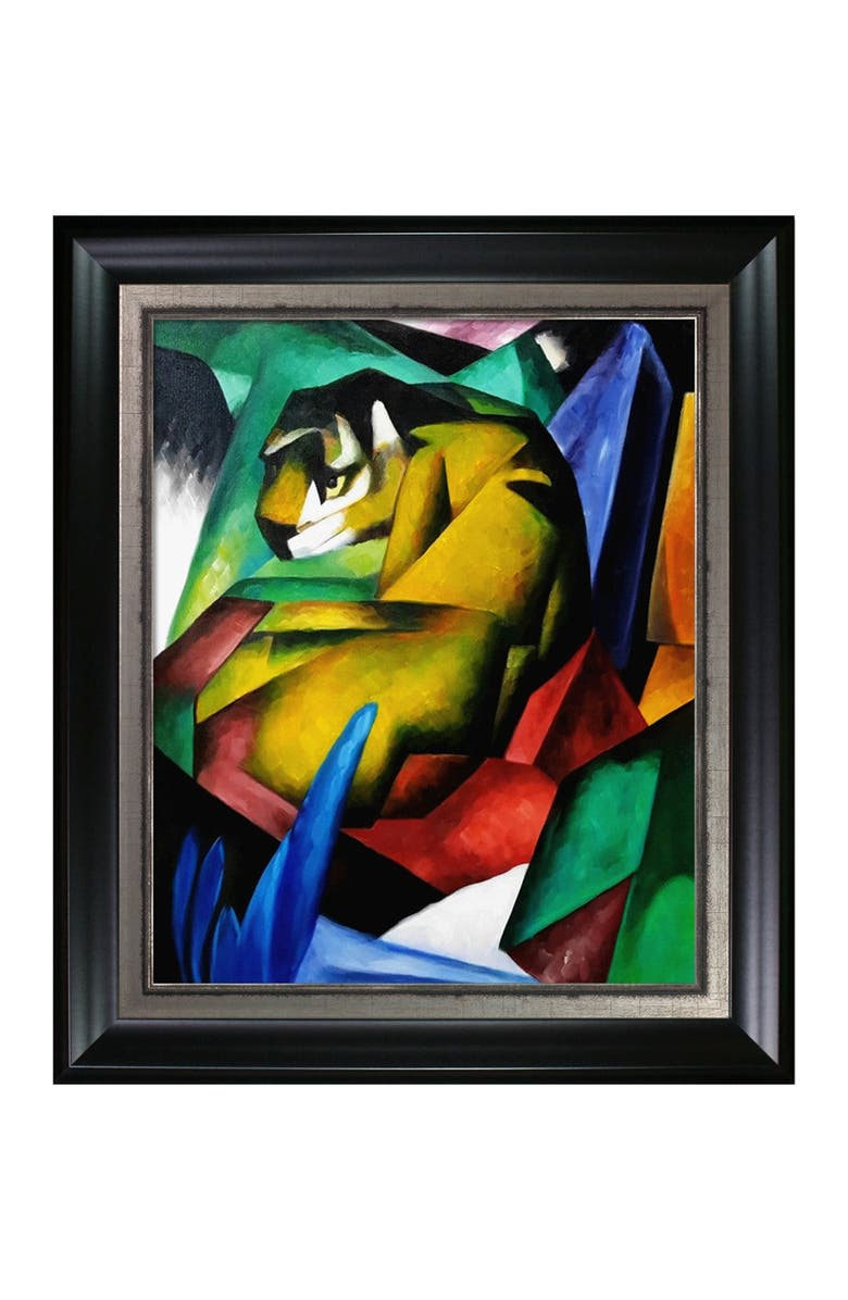 OVERSTOCK ART The Tiger - Framed Oil Reproduction of an Original Painting by Franz Marc, Main, color, MULTI