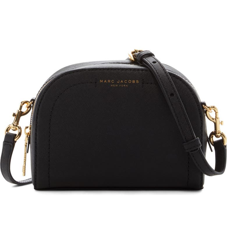 MARC JACOBS Playback Leather Crossbody Bag, Main, color, BLACK