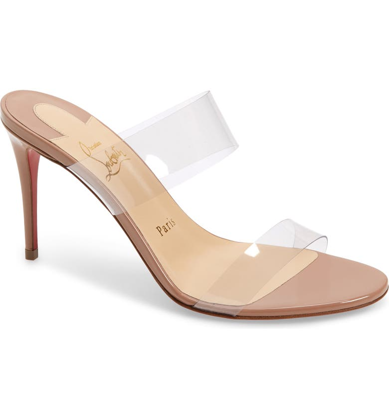 CHRISTIAN LOUBOUTIN Just Nothing Slide Sandal, Main, color, NUDE