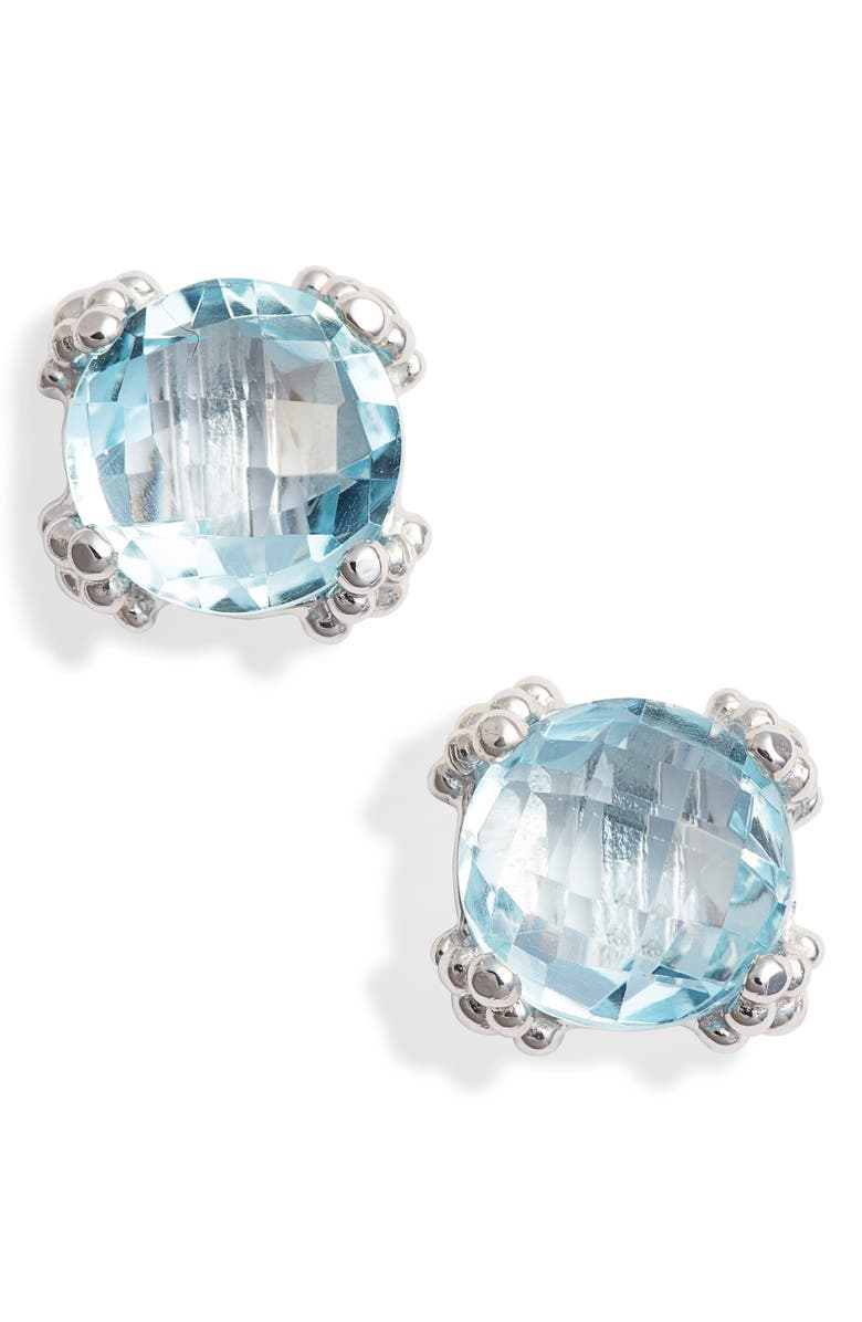 ANZIE Small Cluster Topaz Stud Earrings, Main, color, BLUE TOPAZ