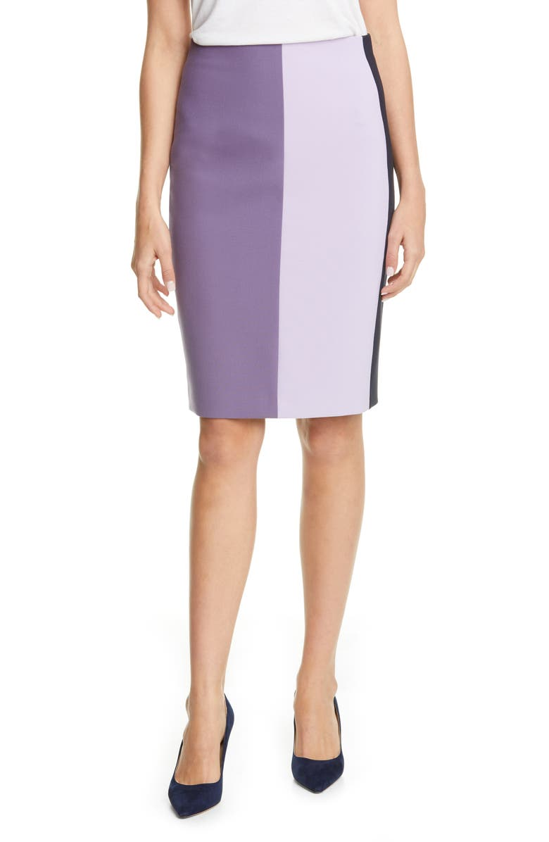 BOSS Volobus Colorblock Pencil Skirt, Main, color, 515
