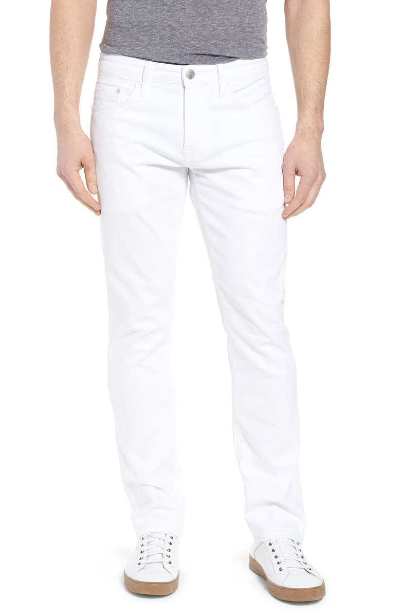 MAVI JEANS Marcus Slim Straight Leg Jeans, Main, color, WHITE WILLIAMSBURG