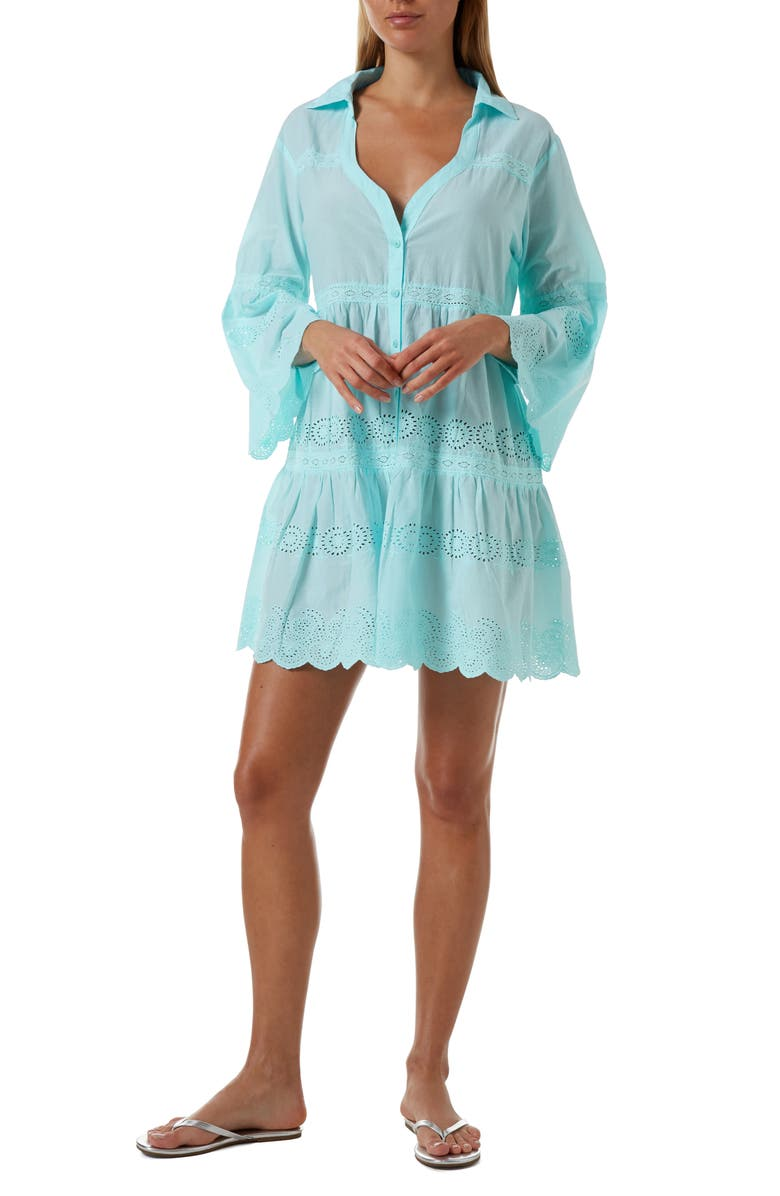 MELISSA ODABASH Becky Button Front Swim Cover-Up, Main, color, 400