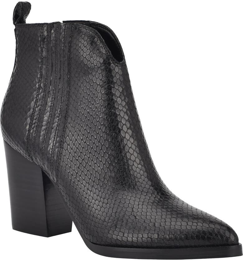 MARC FISHER LTD Annabel Bootie, Main, color, BLACK/ BLACK LEATHER