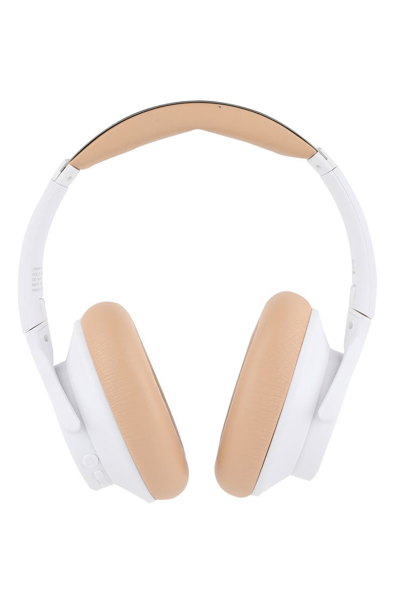 ALTEC LANSING Active Noise Cancelling Bluetooth<sup>®</sup> Over-Ear Headphones, Main, color, WHITE