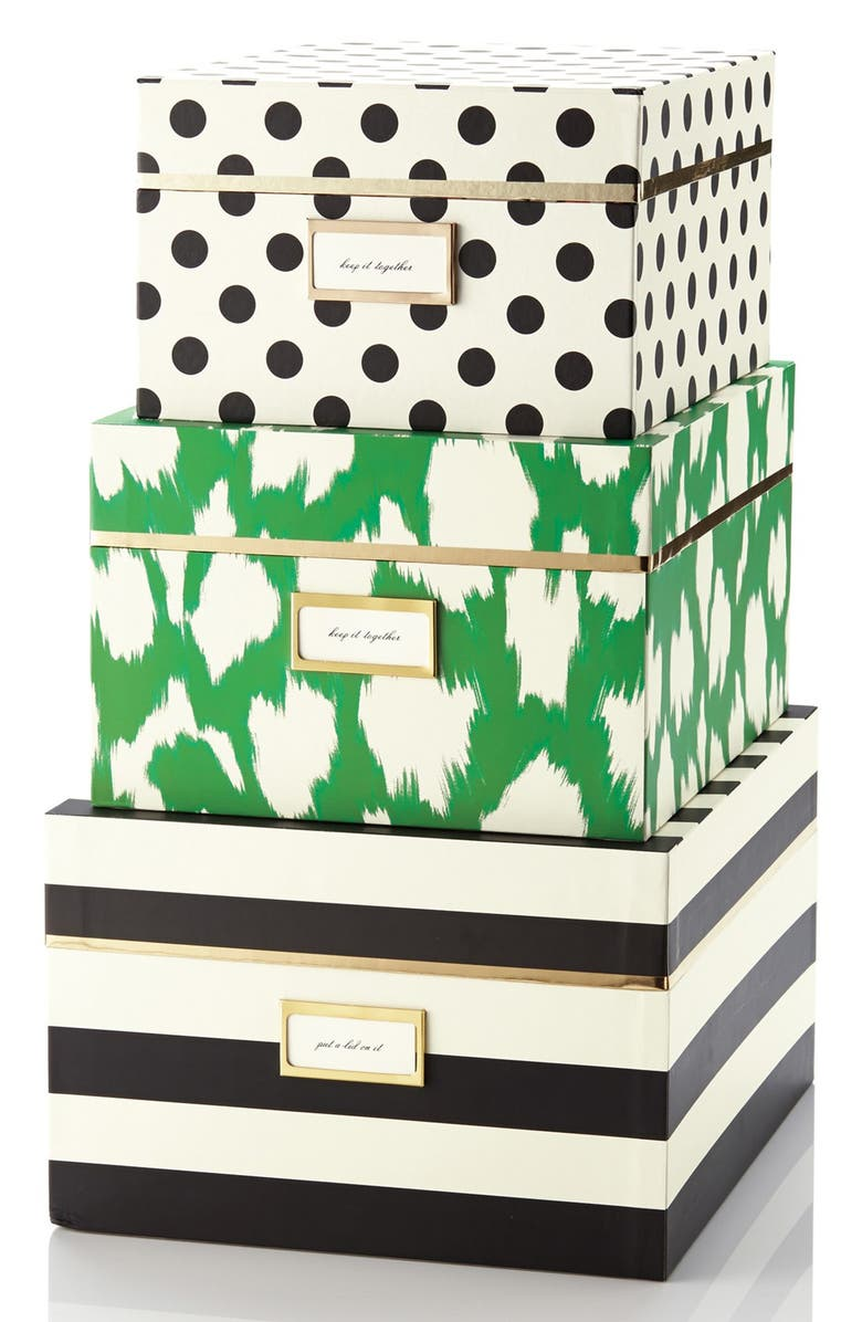 KATE SPADE NEW YORK storage nesting boxes, Main, color, 100
