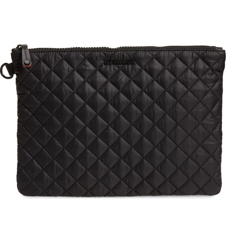 MZ WALLACE Metro Pouch, Main, color, BLACK/ BLACK