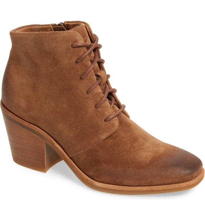 SÖFFT Corlea Lace-Up Bootie, Main, color, SIENA BROWN LEATHER