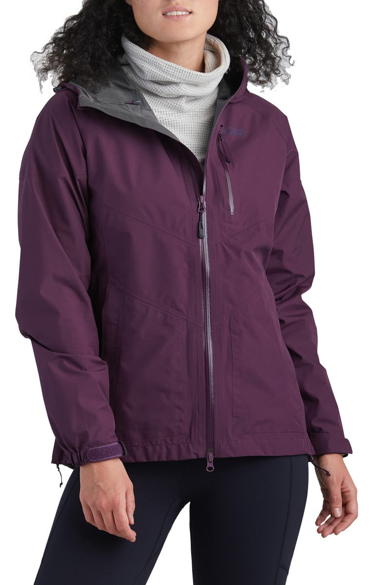 OUTDOOR RESEARCH Aspire Gore-Tex<sup>®</sup> Hooded Jacket, Main, color, BLACKBERRY